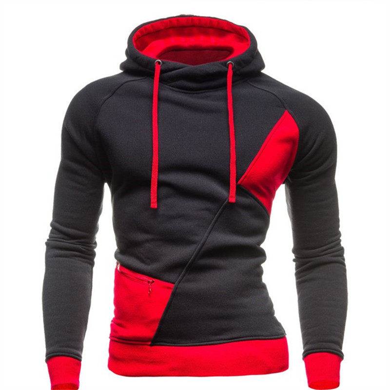 2015 Autumn Winter Fashion New Patchwork Color Hoodies Sweatshirts Men,Casual Hoodies Clothing Design Outerwear Coat New Arrival