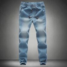 2016 New Fashion Men's Jeans Cotton Denim Jeans men jogger pants men Casual Washed Trousers cargo pants Asian size M~5XL(China (Mainland))