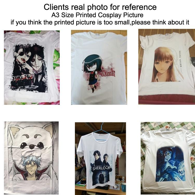 T-shirt printed size
