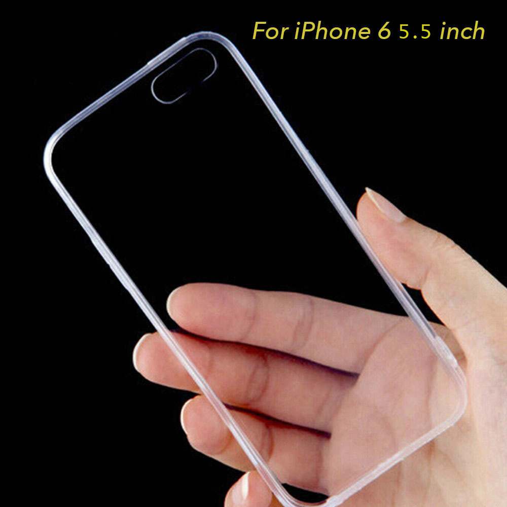 """For iPhone 6 Plus Case, 5.5"""" Thin Case Cover TPU Rubber Gel, Transparent Clear Back Case for iPhone 6 Plus, Soft Silicone(China (Mainland))"""