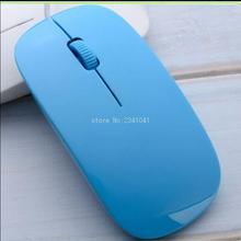 2016 Newest 1200dpi Wired Optical Mouse Ultra Slim High Quality Mice USB for PC Laptop blue(China (Mainland))