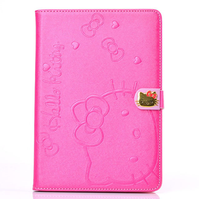 Lovely Hello Kitty Leather for iPad Mini 2 case Magnetic Flip Stand Pouch Cover for iPad Mini Smart Case Free Shipping(China (Mainland))