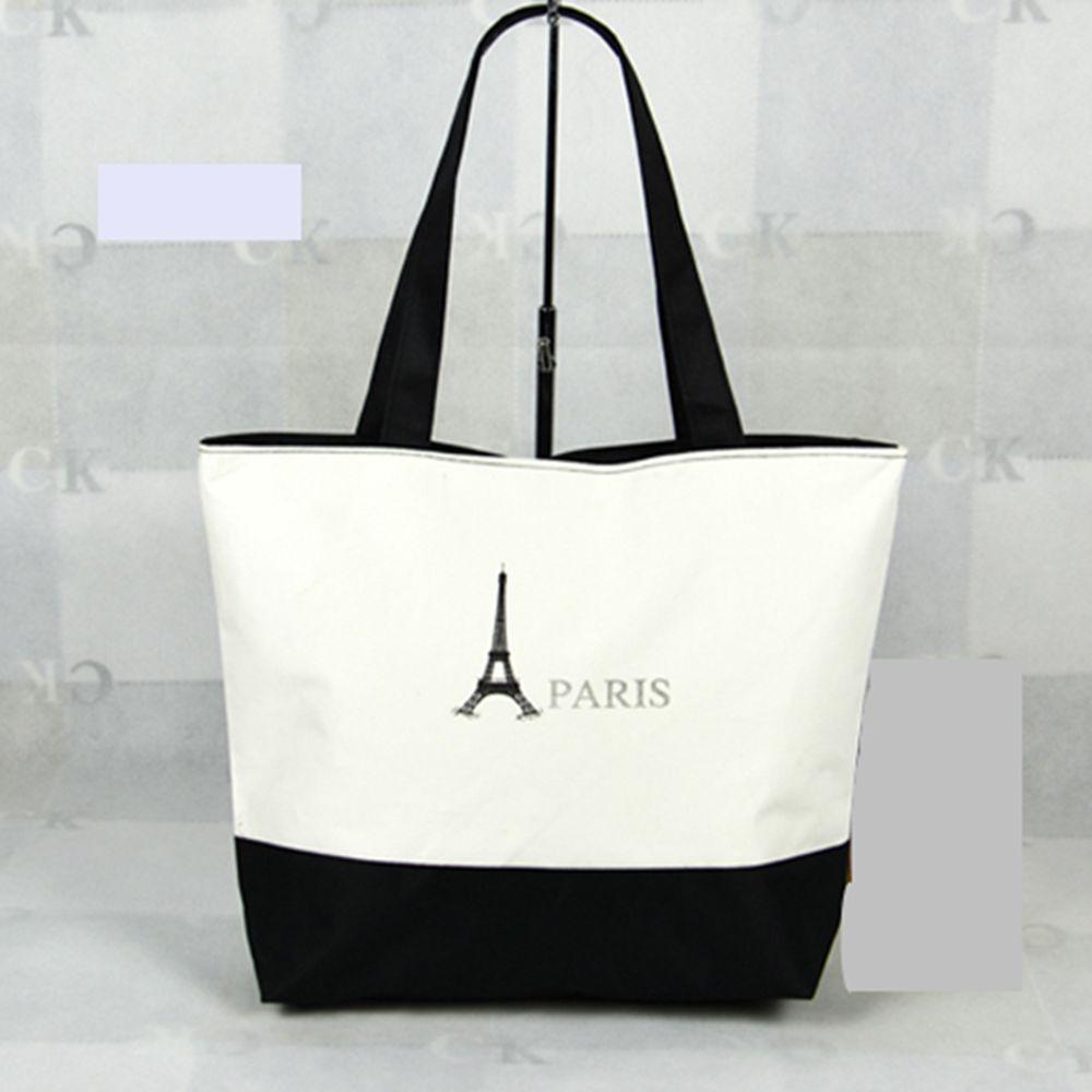 Stylish Ladies Canvas Tote Bag Zipper Women's Shoulder Eco Bags Handbags Shopping Beach Gym Zip Free Shipping Lady Women(China (Mainland))