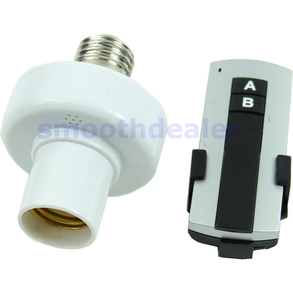 New E27 Screw Wireless Remote Control Light Lamp Bulb Holder Cap Socket Switch(China (Mainland))