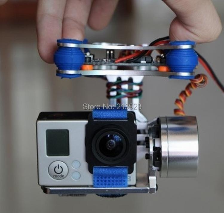Gopro Hero 3 Brushless Camera Gimbal Mount Gimbal Mount Kit + 2208 Motors + BGC Controller for DJI Phantom Walkera QR X350