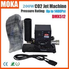 МОКА свет Этапа Горячий продавать Одной трубы СО2 Кэннон Машина DMX512 Jet CO2 туман машина Крио Эффект