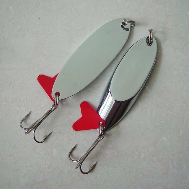 Free shipping,New Arrivals  40g/75mm 10pcs/lot, Fishing Lure Metal Spoon/Spinner
