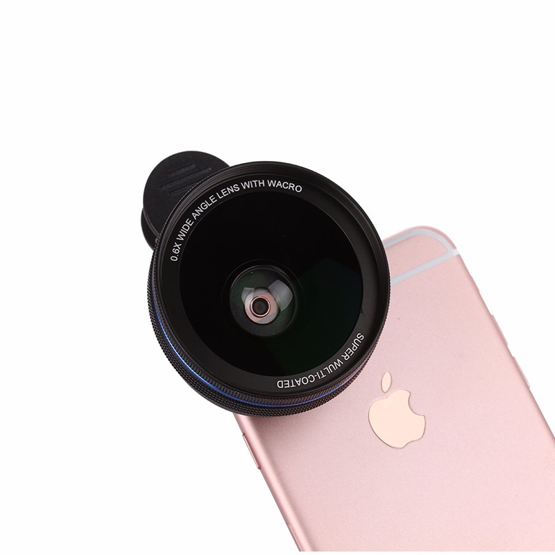 2016 HD Lentes mobile phone 0.6x Wide Lens Cellphone Macro Lenses Schott Glaswerke for Huawei xiaomi iphone 4 5 5s 6 7 plus Sams