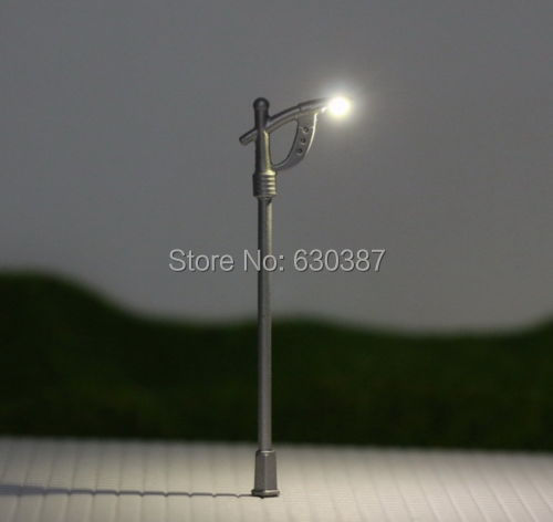 LNH10 10pcs Model Railway Lamppost lamps Street Lights N Z Scale LEDs NEW(China (Mainland))