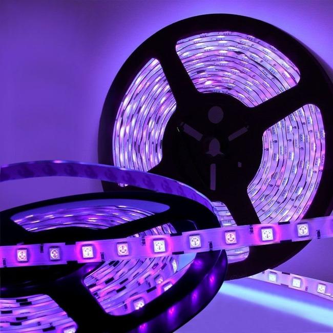 Tanbaby Led strip purple color 60led/M 3528 SMD flexible led stripe rope DC12V car auto light home decroation light Purple(China (Mainland))
