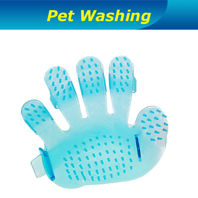 Dog Brush Lovely Palm Style Washing Brush Massage brush for Dogs, Cats Pets washing pet care for pets health Free Shipping(China (Mainland))