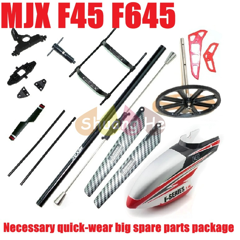 Mjx f45 f645 shuttle 4ch rc helicopter spare parts the necessary quick-wear accessories Free Shipping Shuang He(China (Mainland))