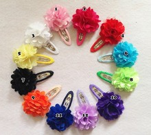 2pcs/lot Baby Girls Hair Clip Band Hairpins Toddler Kids Flower Pumpkin Fashion Gift hair accessories(China (Mainland))