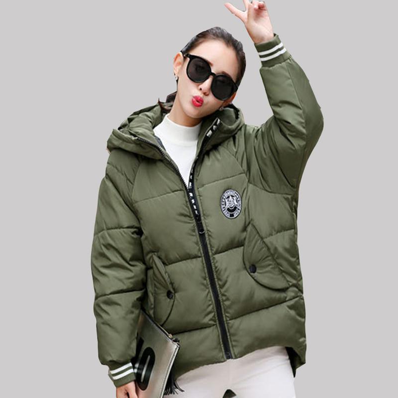 2016 Plus Size Winter New Korean Coat Women Fashion Thick Cloak Hooded Cotton Jacket Casual Print Long Warm Parkas JA204