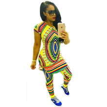 Buy 2017 Sexy African Dashiki Mini Two Piece Dress Autumn Short Sleeve Round Neck Bodycon Bandage Short Dresses African Print Dress for $15.29 in AliExpress store