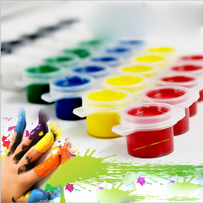 6pcs/set Painting Tool Acrylic Paint Kids Drawing Set 6 Colors High Quality for School Art Supplies Paint Sets(China (Mainland))