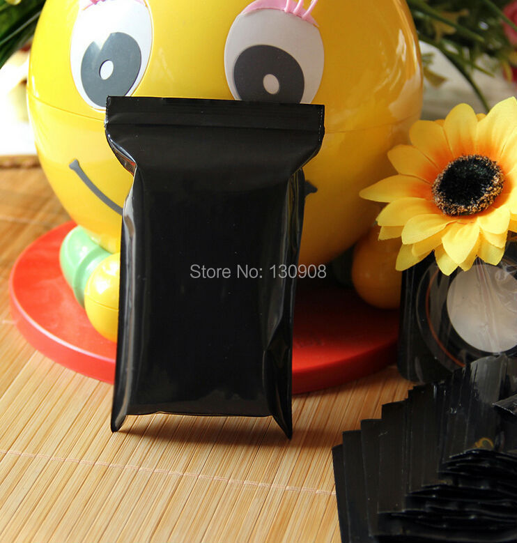 7*10cm Small black plastic bags,self lock black plastic ziplock bag(China (Mainland))