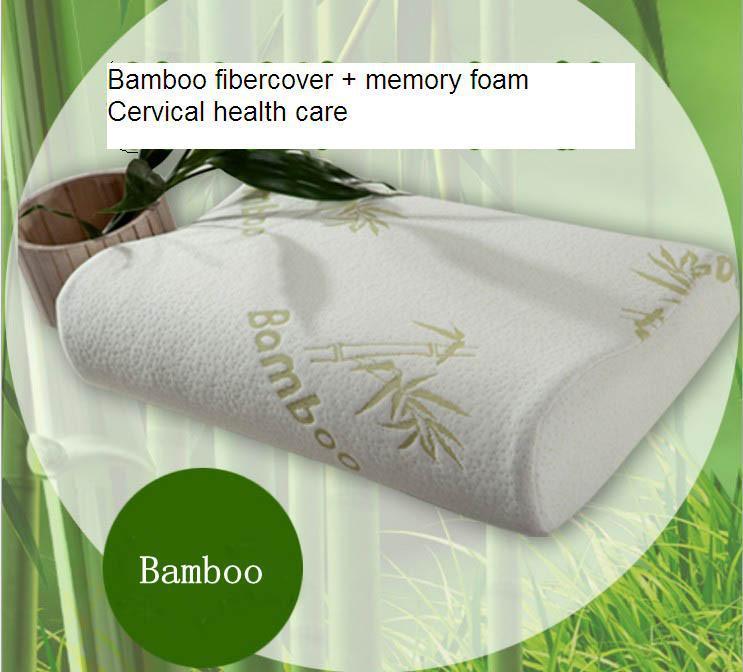 der bambus kissen f r hals memory schaum kissen kissen entspannen schlafen speicher stress. Black Bedroom Furniture Sets. Home Design Ideas