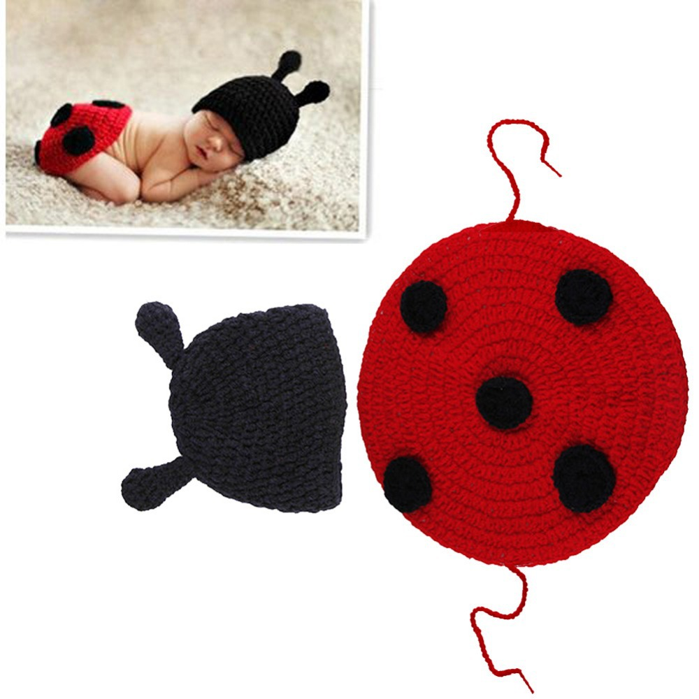 Pce Cute Baby Infant Knitted Clothing Set Ladybug Costume