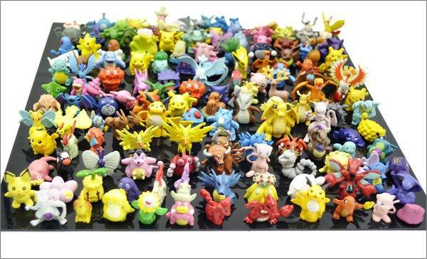 72PCS/lot Pokemon Mini Pikachu Minifigure Action Figures Toy For Gift #568 Anime Pocket Monster Toys Free Shipping(China (Mainland))