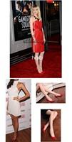 Насосы size35-41 женщин, сексуальный красный внизу указал ног высокие каблуки обуви женщина совершенно новый дизайн лакированная кожа партии обувь jam7