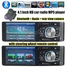 1 DIN New Arrival High-quality 4.1 Inch HD TFT Screen 12V Car Radio Stereo Bluetooth Support Rear Camera SD/USB MP4/MP5 Player(China (Mainland))