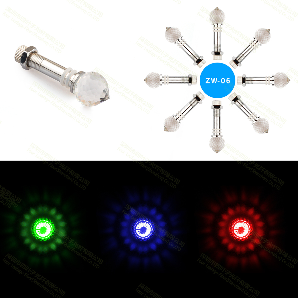ZW-06 2014 newly design home ceiling star sky fiber optic lighting reflecting crystals end fittings(China (Mainland))
