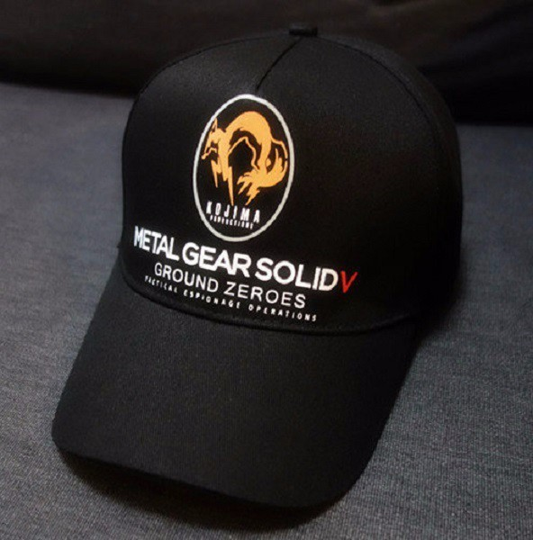Metal Gear Solid V 5 Ground Zeroes MGS5 Fox Logo Cap Collection Hat Adjustable Snapback Baseball Cap Black Color(China (Mainland))