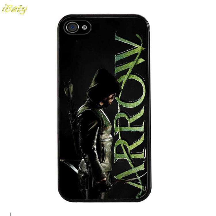 New HOT selling Green Arrow designs luxury Hard Plastic Mobile Phone Bag Case Cover for iphone 4 4s 5 5s 5c 6 6 plus(China (Mainland))