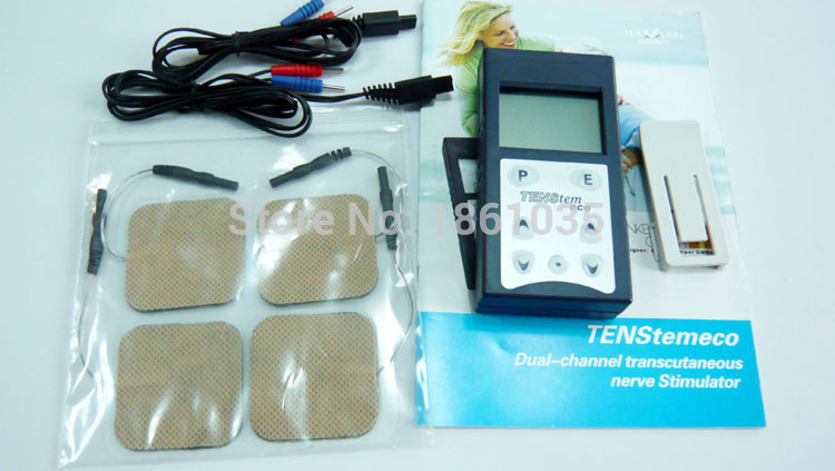 2 Channels TENS Electrical Stimulator Therapy Massager TENStem eco nerve Stimulator Free shipping<br><br>Aliexpress