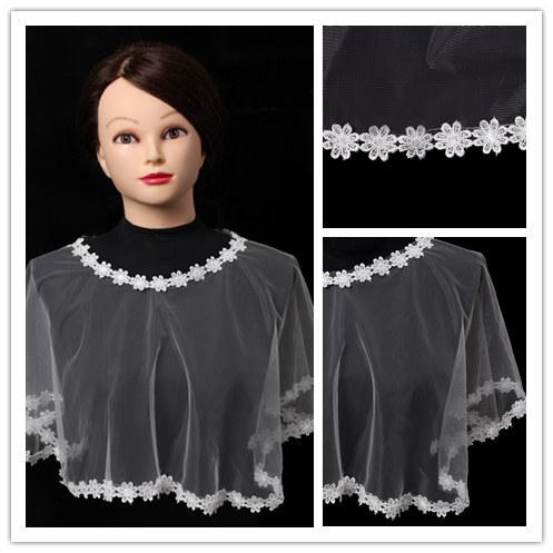 2015 White Lace Shrug Cap Sleeves Wedding Jacket For Brides Flower Plus Size Cape Coat Women Online Shop(China (Mainland))