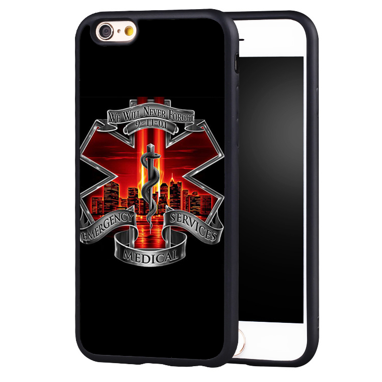 EMS Emergency Medical Service Printed Soft TPU Skin Mobile Phone Cases OEM For iPhone 6 6S Plus SE 5 5S 5C 4 4S Back Shell Cover(China (Mainland))