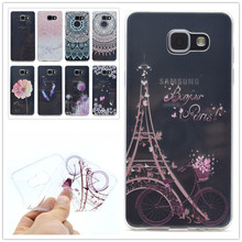 Buy Ultra Thin Soft Phone Cover Samsung Galaxy A3 2016 A310 A310F Flowers Painted Pattern Transparent Soft Silicone Back Case for $1.38 in AliExpress store