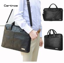 Buy Cartinoe PU Leather Business Laptop Bag 15.6 inch Laptop Sleeve case Macbook Air 15 Pro 15 Retina Bag Men Handbag Briefcase for $25.92 in AliExpress store