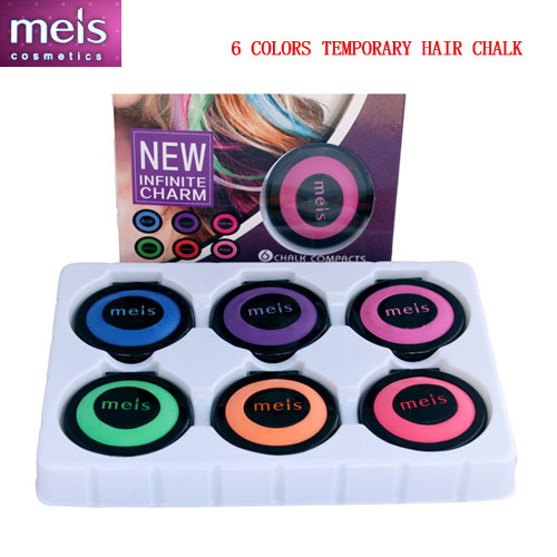 new fashion hair color hair chalk set makeup temporary hair chalk paint for hair 6 colors Free shipping 6 pieces / set MS0140