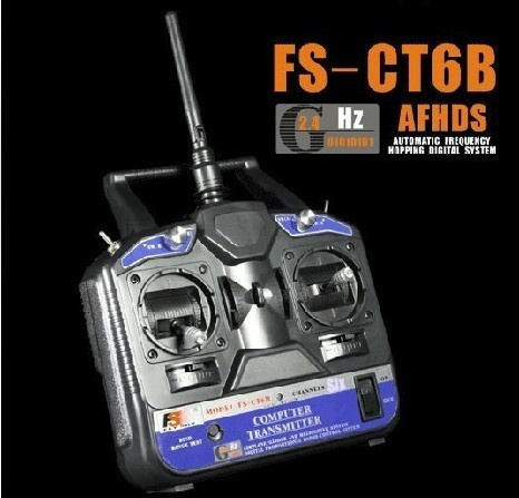 FS-CT6B 6CH 2.4G Radio Model rc transmitter &amp; Receiver for  Trex 450 500 Mode 2 P2<br><br>Aliexpress