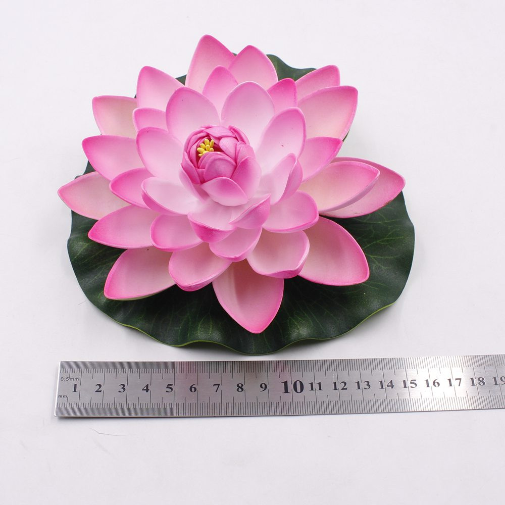 1PCS 17CM Decor Garden Artificial Fake Lotus Flower Foam Lotus Flowers Water Lily Floating Pool Plants Wedding Garden Decoration