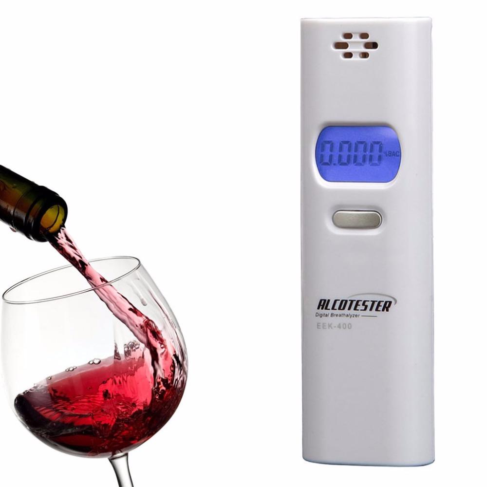 Portable Mini Breathalyzer LCD Display Digital Breath Alcohol Tester Decetor Color White(China (Mainland))