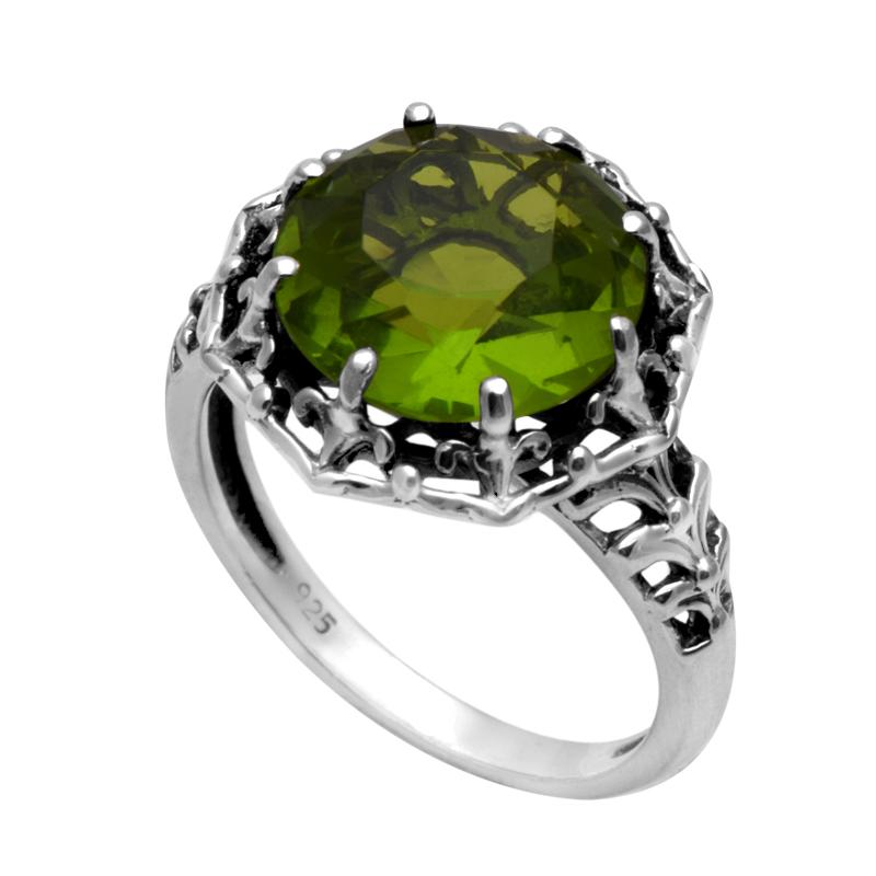 popular silver peridot ring buy cheap silver peridot ring