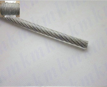 Wholesale 100M/Roll Overall Diameter 1.5MM PVC Plastic Coated Stainless Steel Wire Rope(1.2MM Wire Rope With 0.15MM Coating)