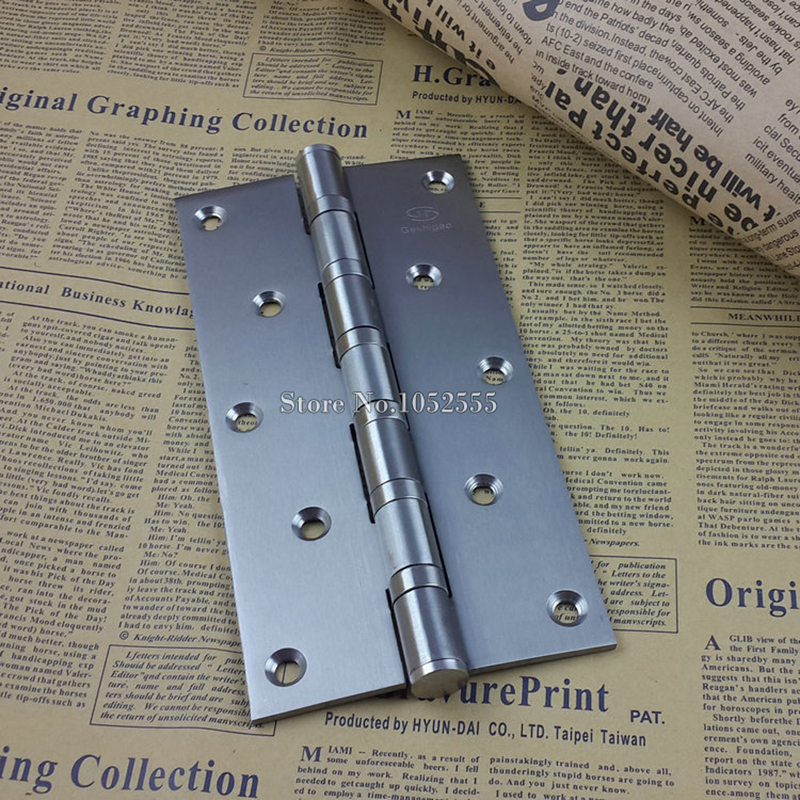 "Thickness 8"" Stainless steel Wooden Door Hinge Heavy Duty Hinges Mute Door Project Auxiliar Hardware With Screws K152(China (Mainland))"
