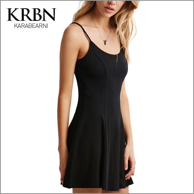 ladies Summer Dress 2015 Women dress Sexy beach dress Casual Backless Sleeveless Spaghetti Strap black mini Dress 15104-35(China (Mainland))