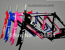Brand Visp TRX790 Track Bike Fixed Gear Bicycle Frame with Fork +Freeshipping(China (Mainland))