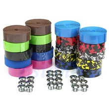 M89 Free Shipping 1Pair Bike Cork Handlebar Tape Bicycle Bar Wrap Ribbon with 2 Bar Plugs Hot