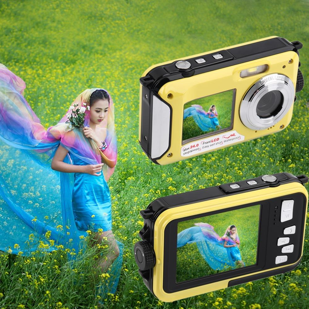2.7inch TFT Digital Camera Waterproof 24MP MAX 1080P Double Screen 16x Digital Zoom Camcorder<br><br>Aliexpress