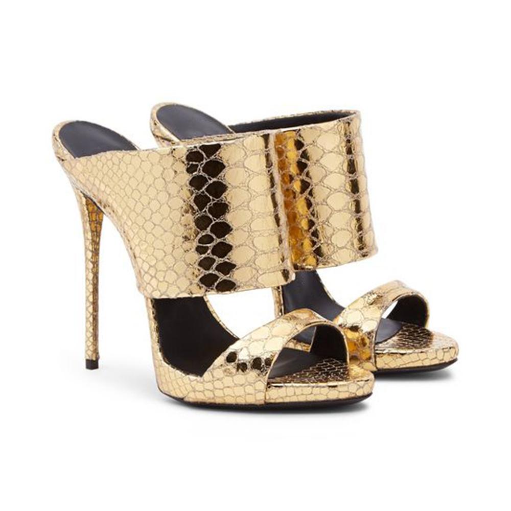 Gold Gladiator High Heel Sandals