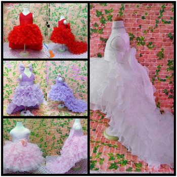 Класс выпускной платья цветок девочки платье элегантный длинная хвостохранилища 2 ...