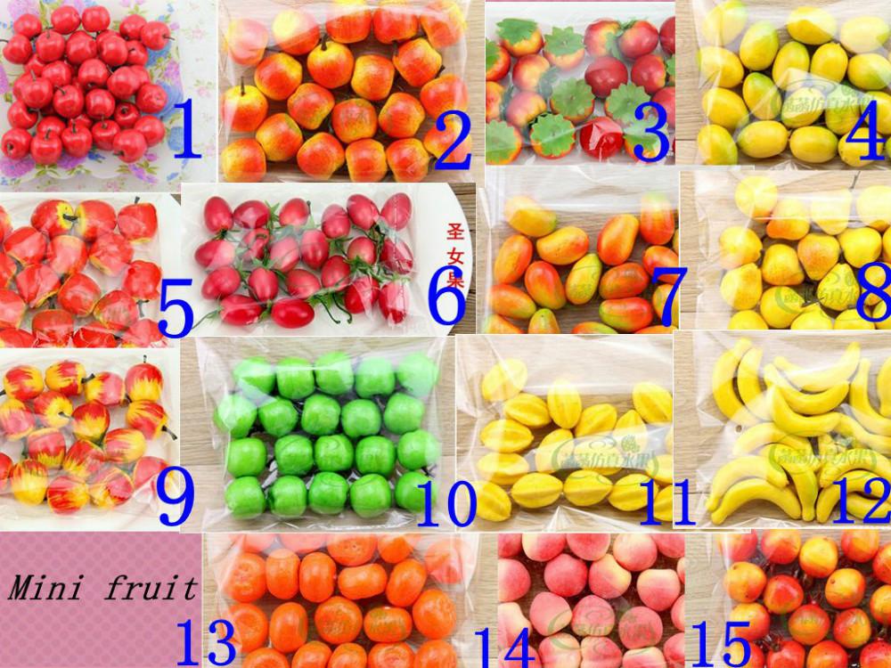 15 kinds optional 60pcs bubble mini fruit simulation fruit for Artificial fruit for decoration