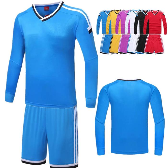 2016 custom Soccer Jersey football uniform professional football uniform mens long sleeve football shirts team soccer jerseys(China (Mainland))