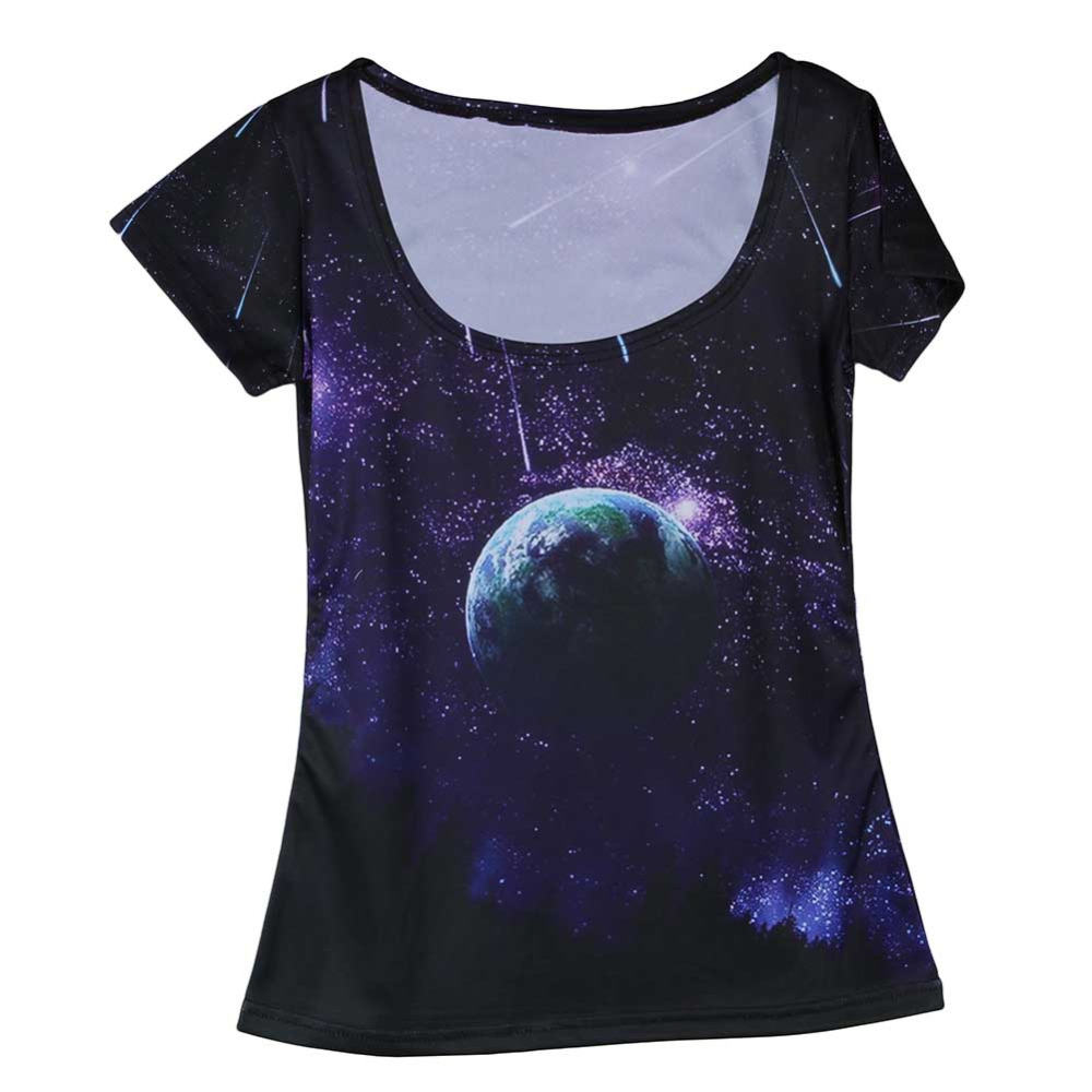 New arrival cool night sky womens t shirt 3d printing for Trendy t shirts for ladies